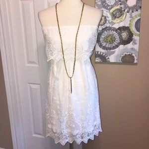 NWOT Express OpenBack strapless lace dress XS ❤️